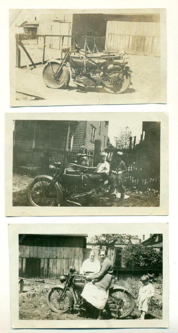 Lot of 5 1920 Vintage Shots Harley Davidson Motorcycle - 2