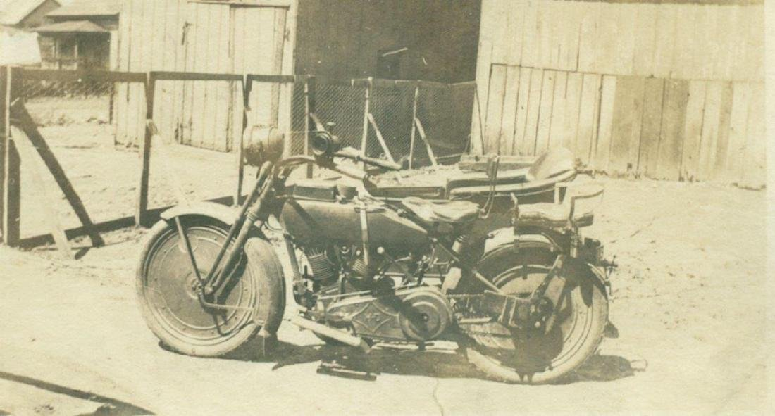 Lot of 5 1920 Vintage Shots Harley Davidson Motorcycle - 3
