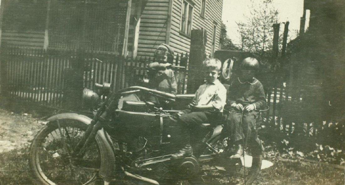 Lot of 5 1920 Vintage Shots Harley Davidson Motorcycle - 4