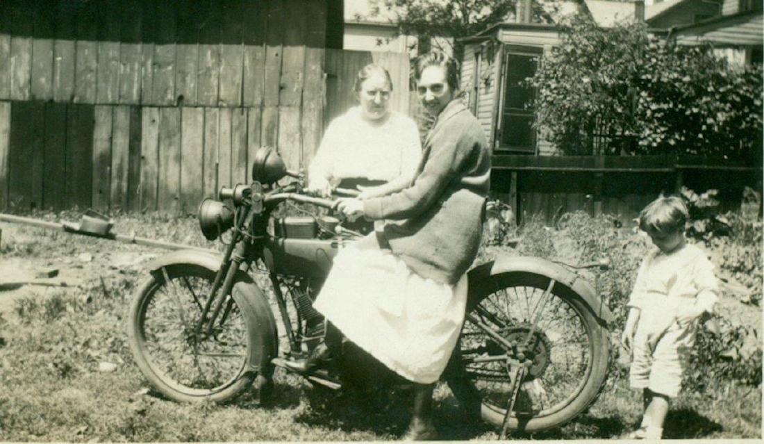 Lot of 5 1920 Vintage Shots Harley Davidson Motorcycle - 5