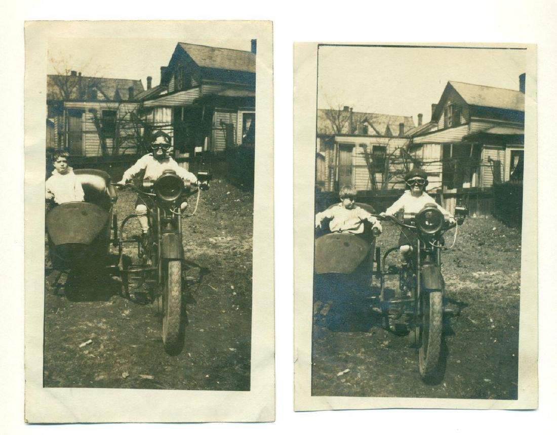 Lot of 5 1920 Vintage Shots Harley Davidson Motorcycle - 6