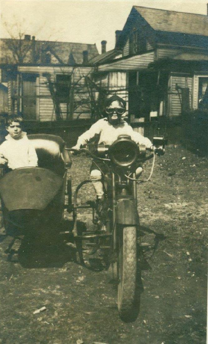 Lot of 5 1920 Vintage Shots Harley Davidson Motorcycle - 7