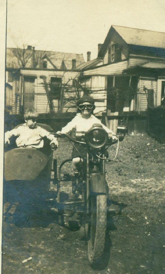 Lot of 5 1920 Vintage Shots Harley Davidson Motorcycle - 8