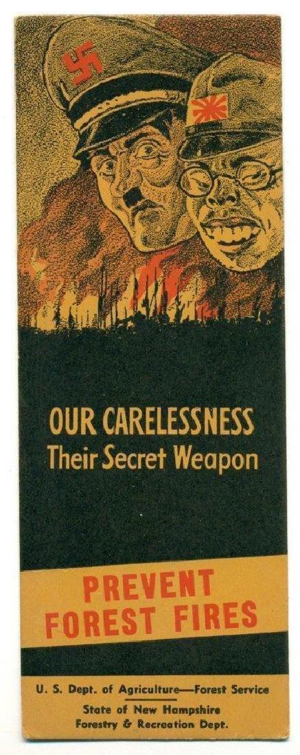 1942 Wwii Home Front Propaganda, Hitler Tojo Caricature