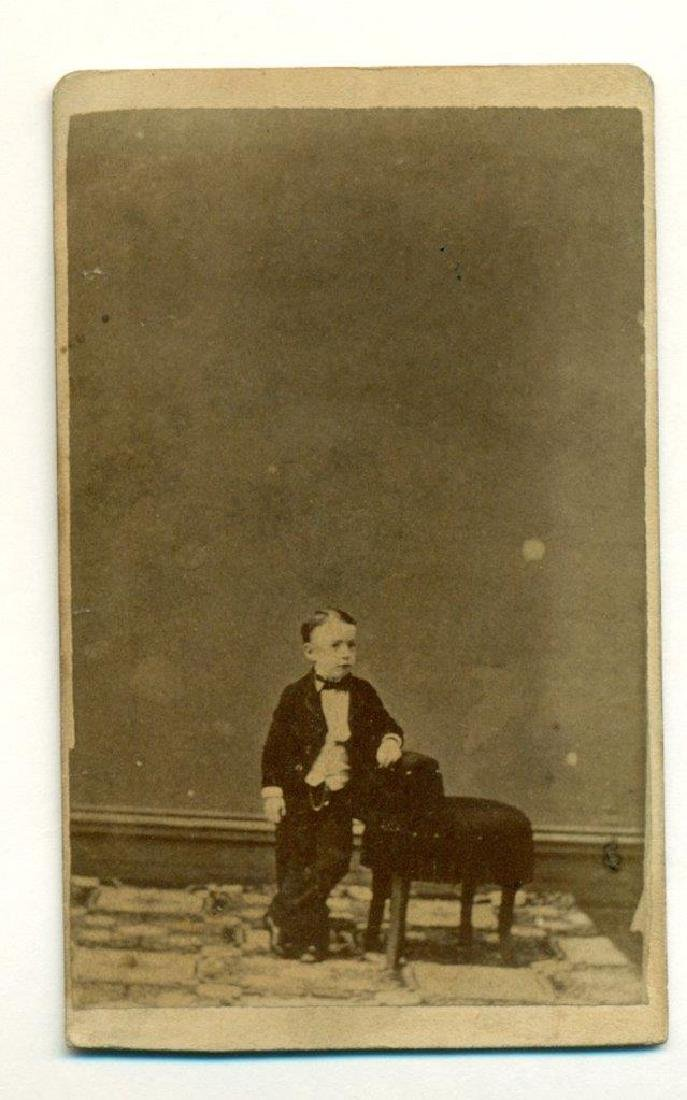 1870 Circus Sideshow Freak Midget John Kit Henry - 2