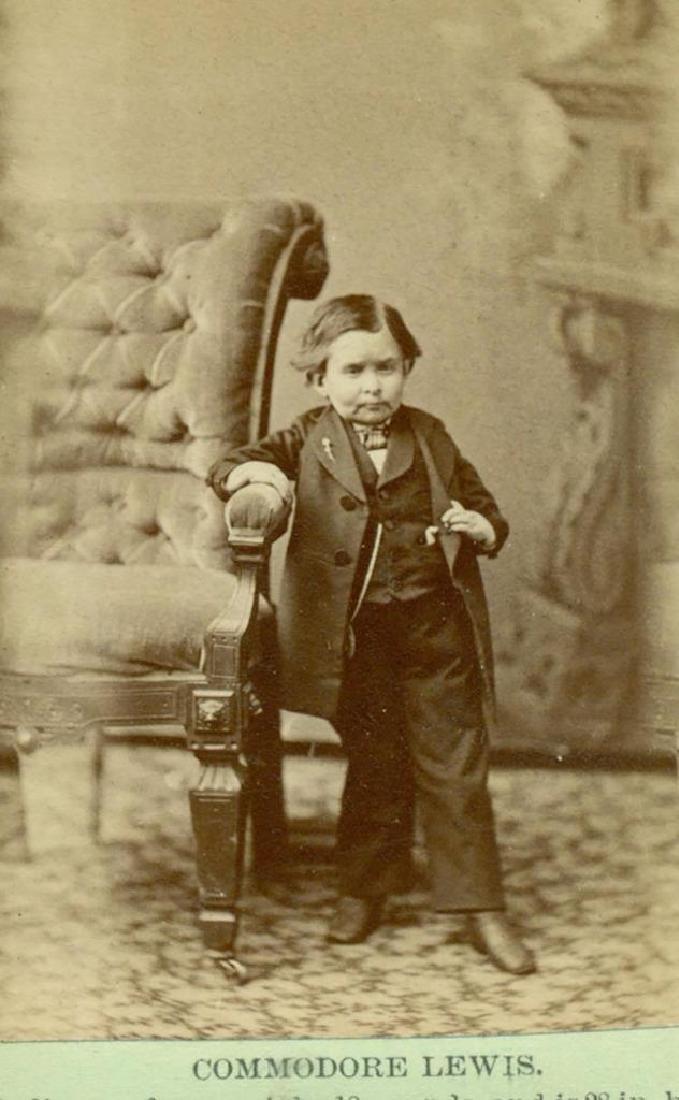 1876 Commodore John Lewis Dwarf Midget Man Watertown