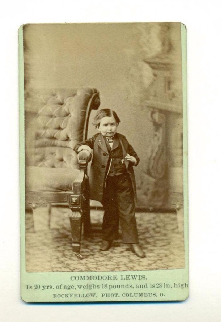 1876 Commodore John Lewis Dwarf Midget Man Watertown - 2