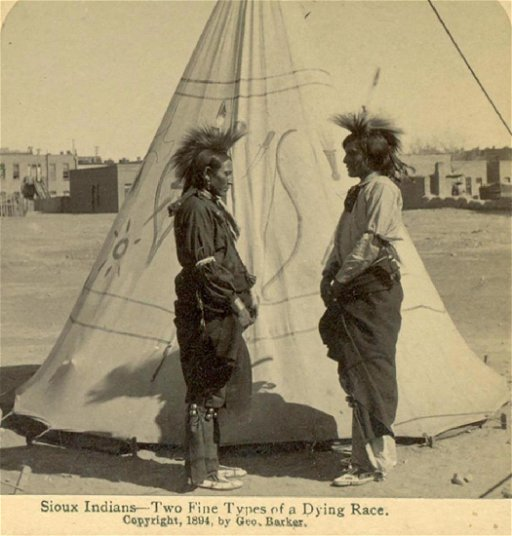 1894 Sioux Indian S W Teepee Native American