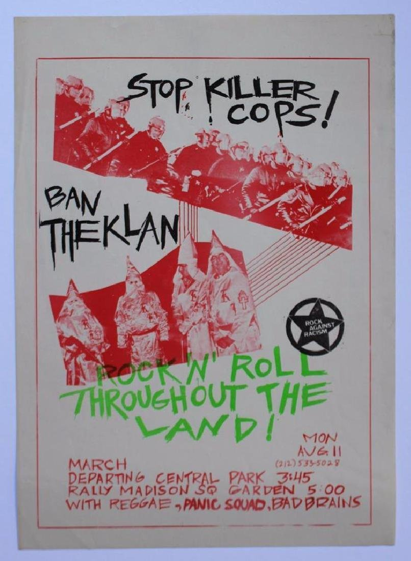 Poster 1980 Protest March Concert Rock Against Racism