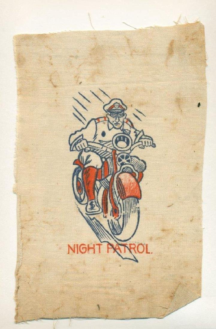1930 Police Officer in Uniform on Motorcycle Caricature - 2