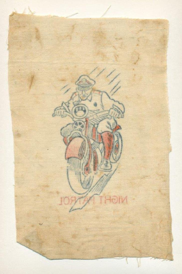 1930 Police Officer in Uniform on Motorcycle Caricature - 3