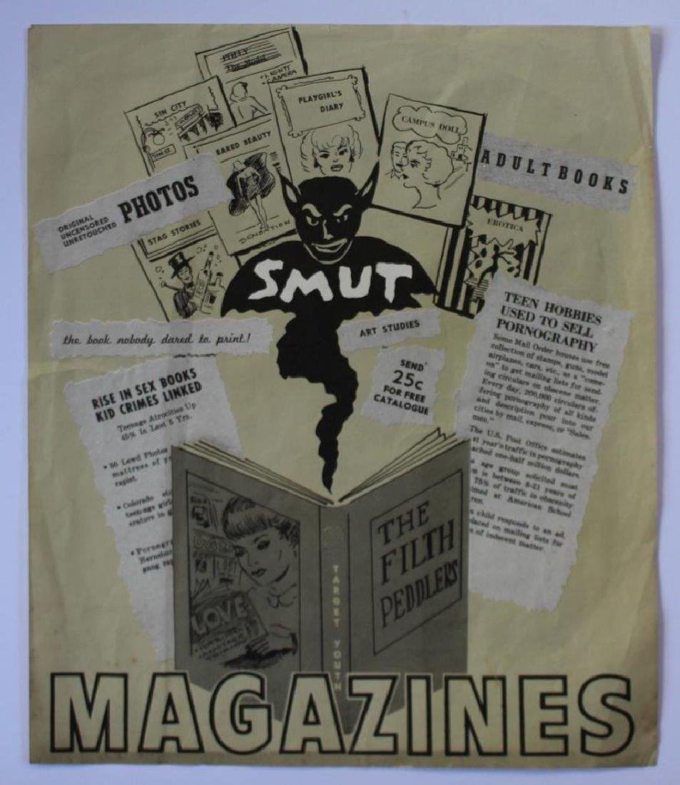 1960s Anti Pornography Propaganda Poster, Smut Magazine