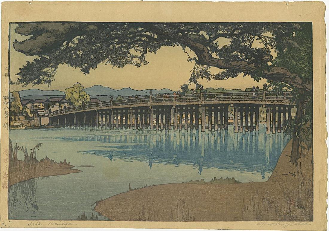 Hiroshi Yoshida First Edition Woodblock Setta Bridge