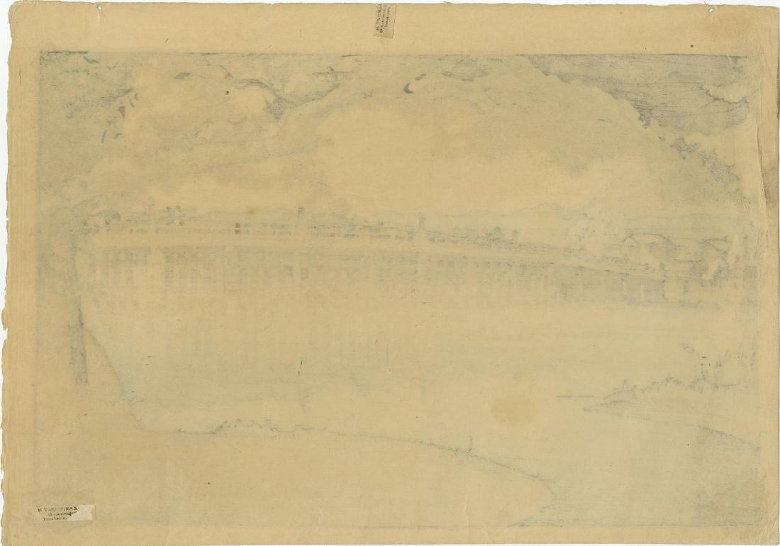 Hiroshi Yoshida First Edition Woodblock Setta Bridge - 2