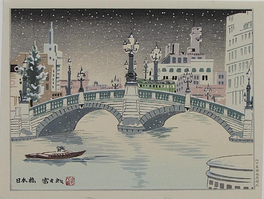 Tomikichiro Tokuriki Woodblock Winter Snowy Scene
