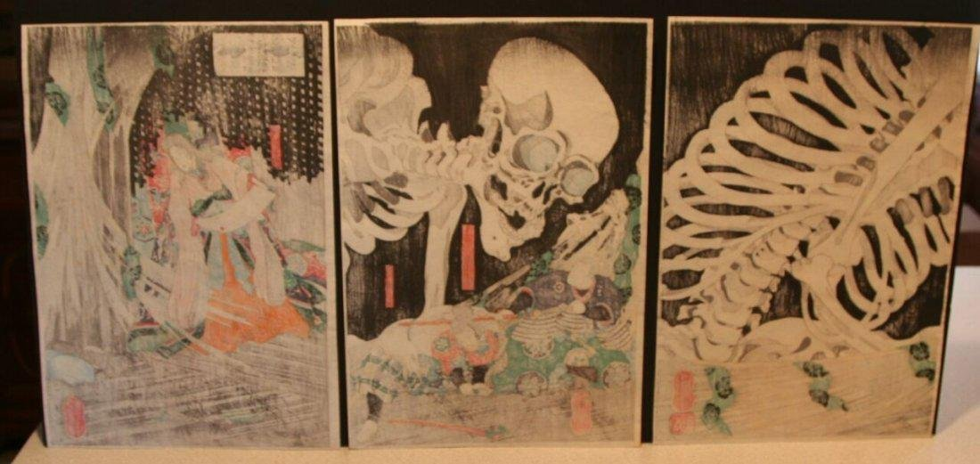 Utagawa Kuniyoshi Woodblock Takiyasha Witch Skeleton - 5