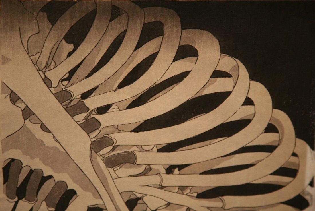 Utagawa Kuniyoshi Woodblock Takiyasha Witch Skeleton - 8