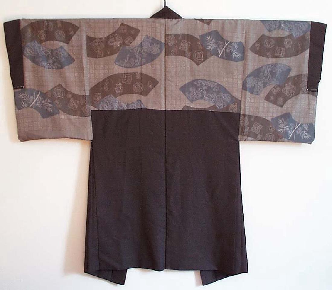 Vintage  Japanese Kimono Haori Fan Designs, 1930s