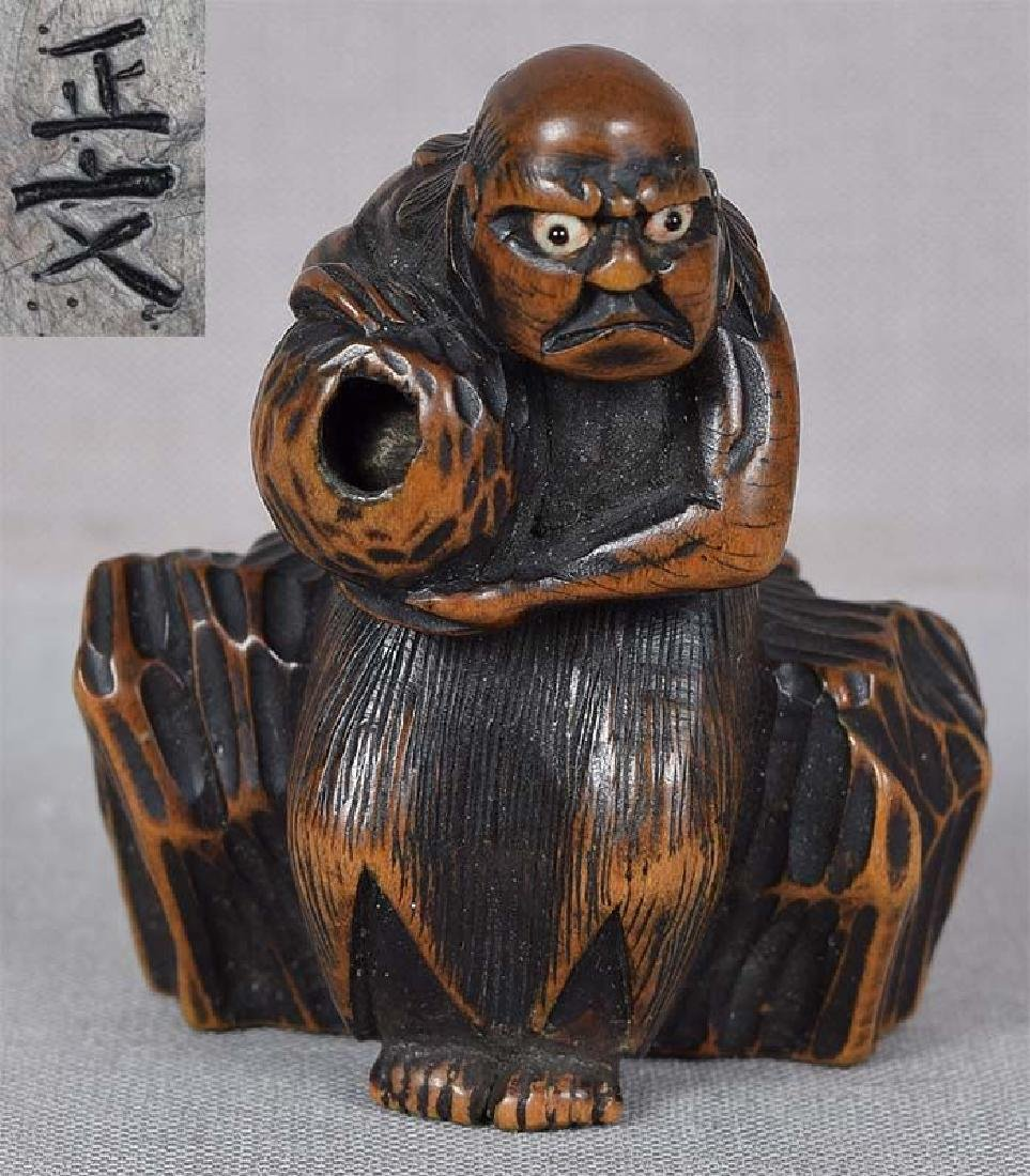 Antique Japanese Netsuke South Sea Islander by Masabumi