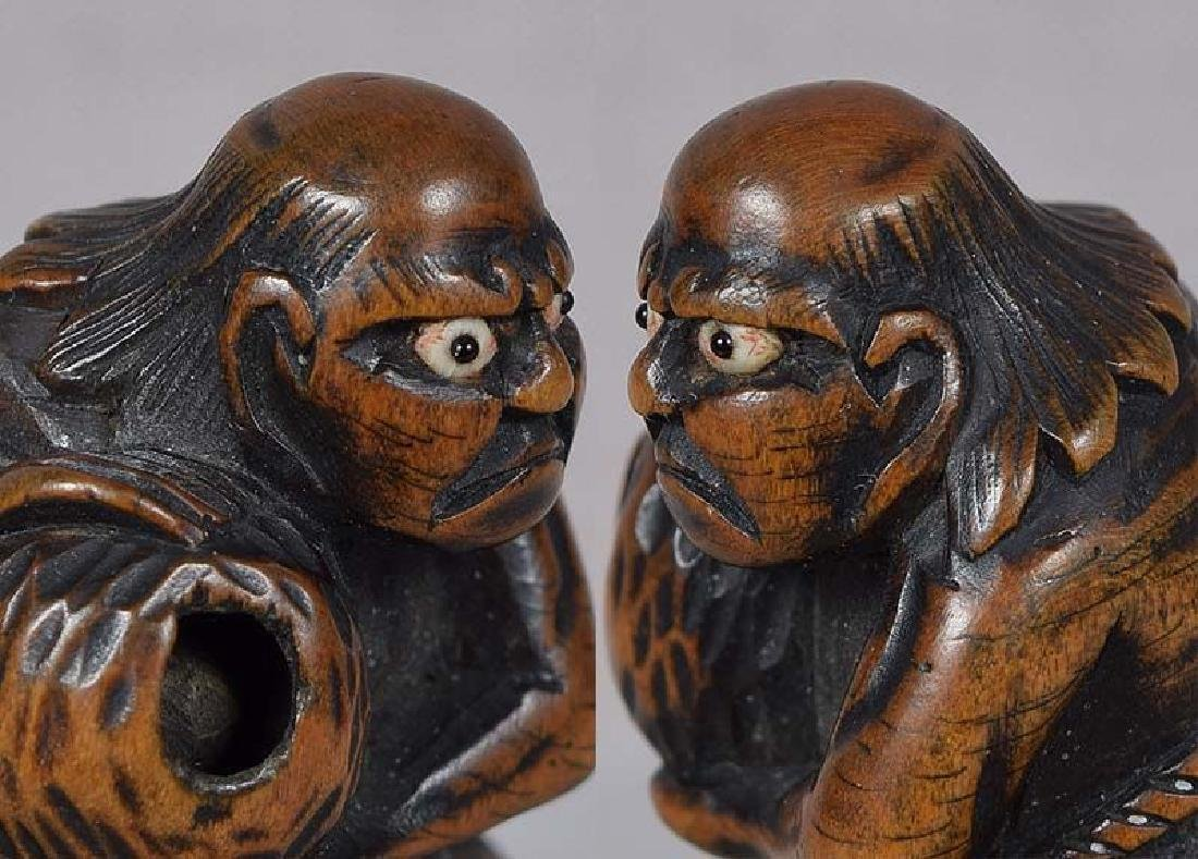 Antique Japanese Netsuke South Sea Islander by Masabumi - 2