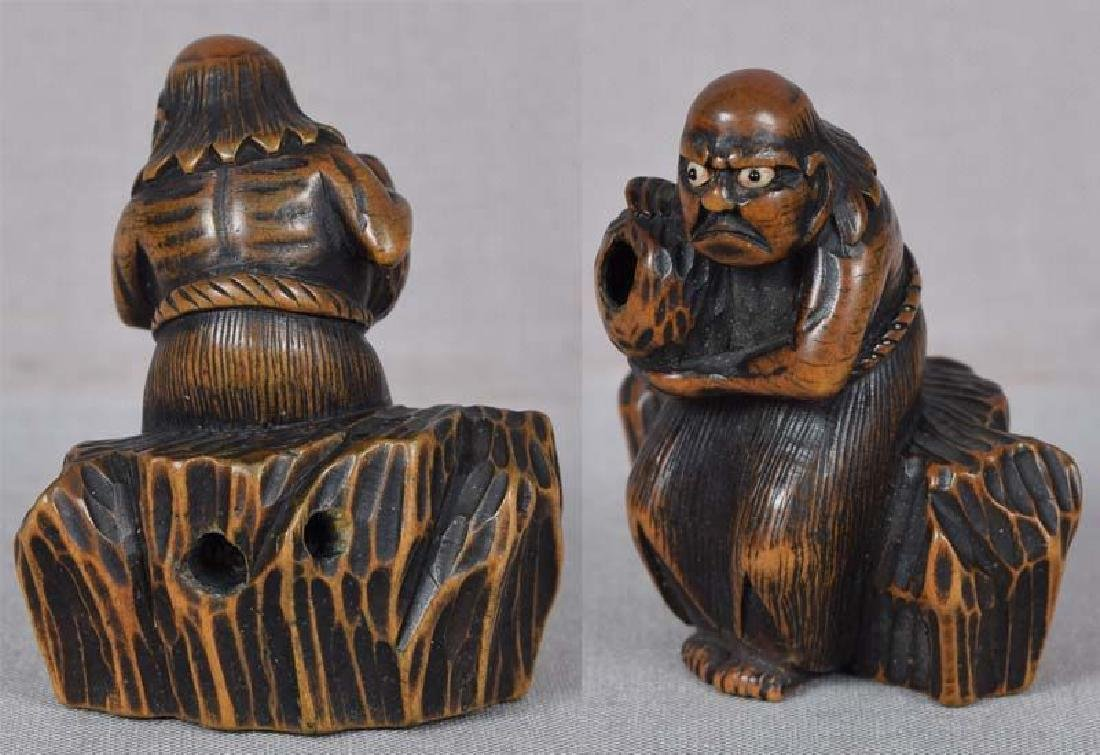 Antique Japanese Netsuke South Sea Islander by Masabumi - 4