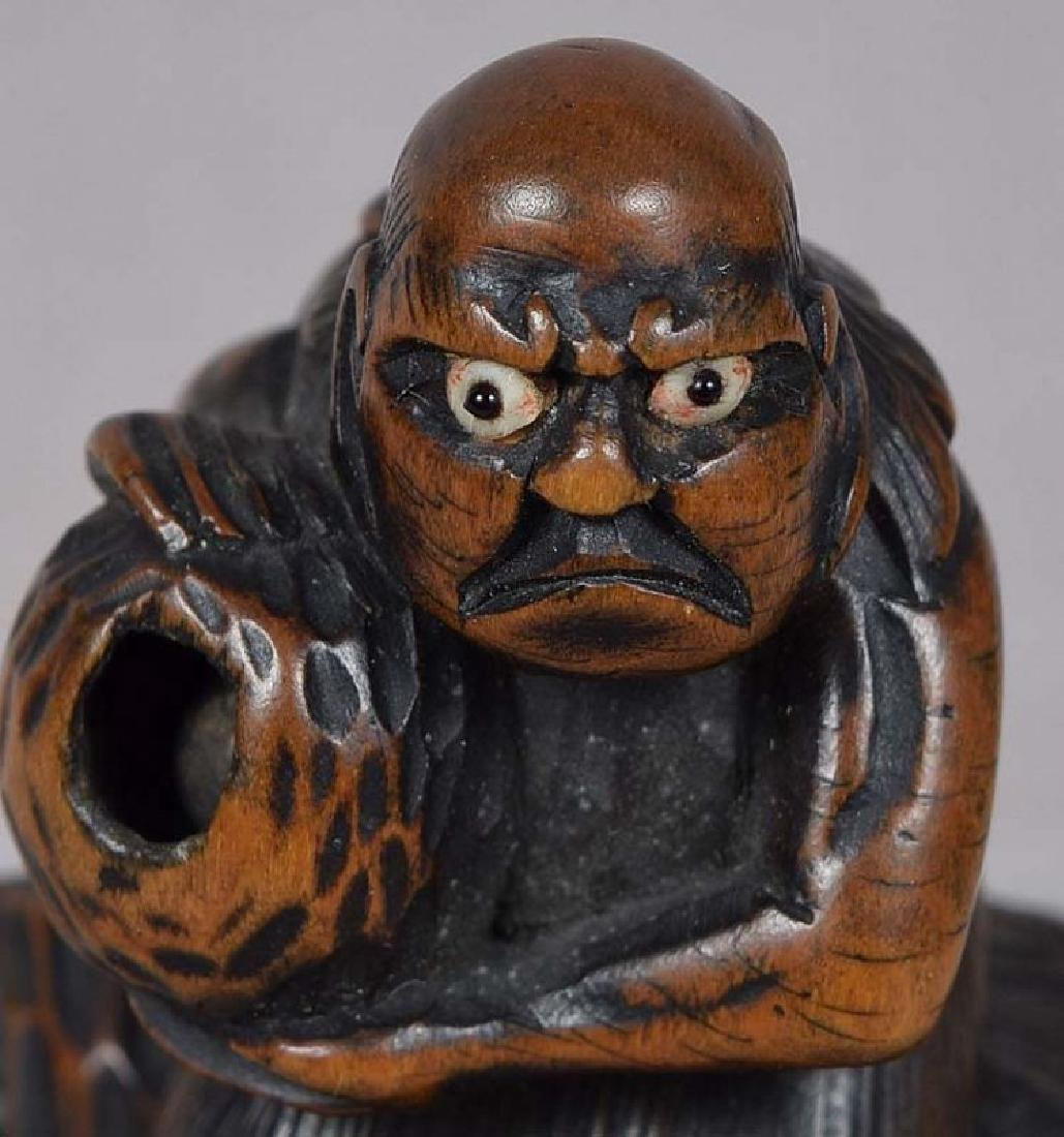Antique Japanese Netsuke South Sea Islander by Masabumi - 6