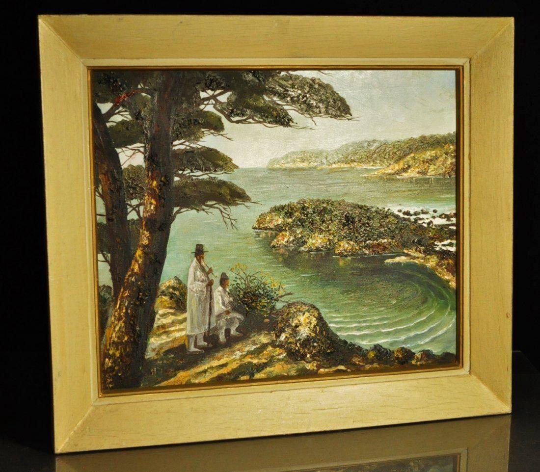 Bakjo Kim: Vintage Oil on Canvas Landscape Painting