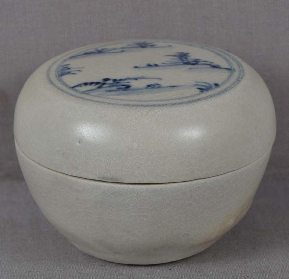 Antique Vietnamese Ceramic Hoi an Shipwreck Box, 15th C