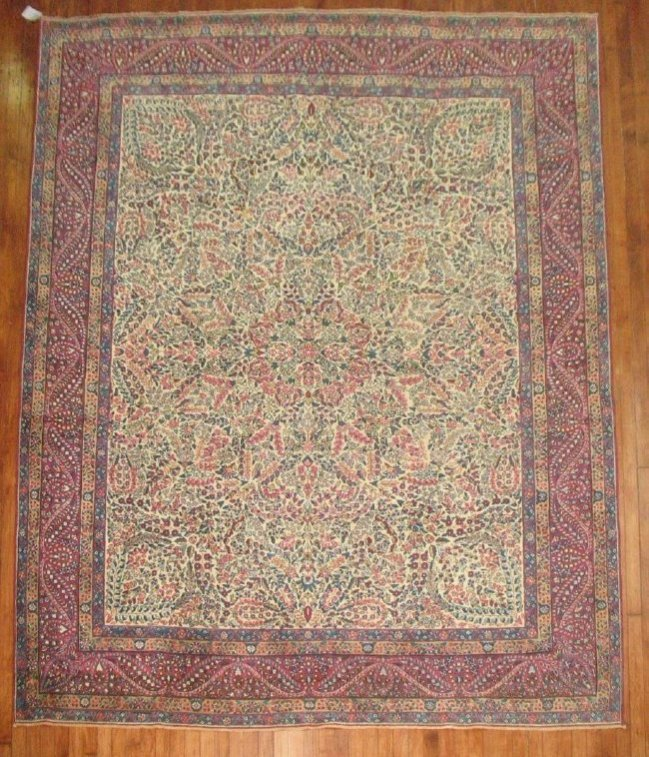 Antique Lavar Kerman Kirman Rug 7.11.x10