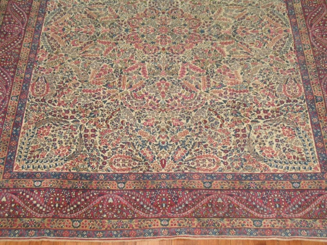 Antique Lavar Kerman Kirman Rug 7.11.x10 - 2
