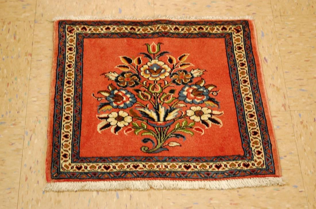Etailed Design Persian Sarouk Rug 1.8x1.8