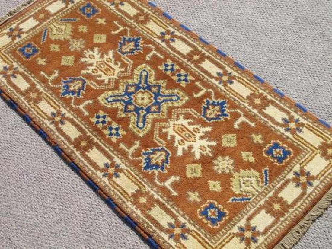 Simply Stunning Hand Woven Kazak Design Rug 2.1x4 - 2