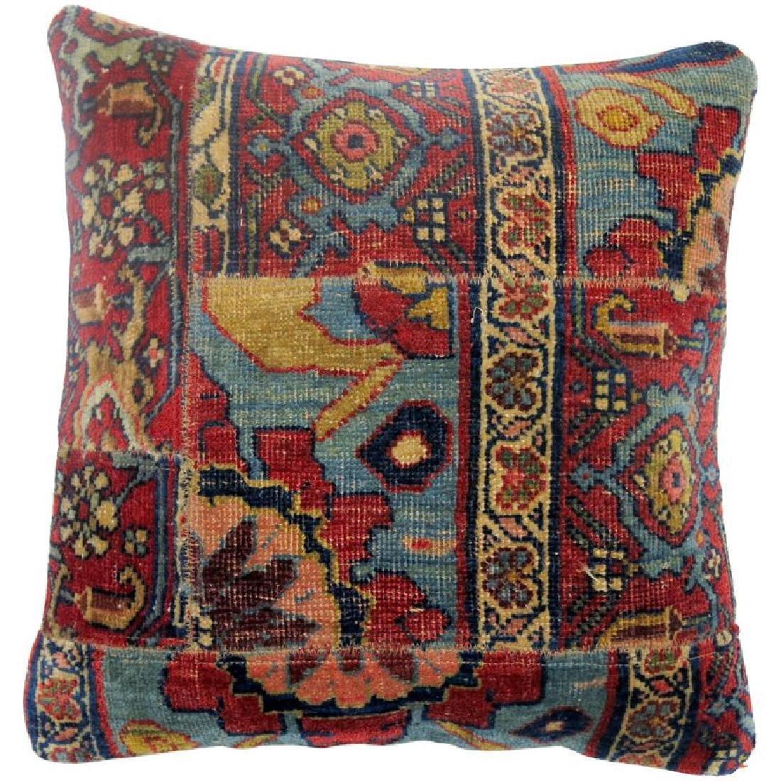 Persian Bidjar Patchwork Rug Pillow 1.7x1.8