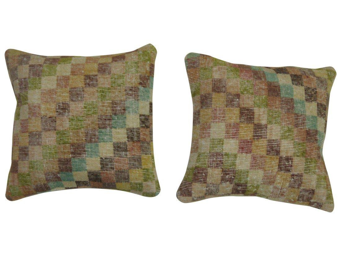 A Pair of Turkish Deco Rug Pillows 1.6x1.5