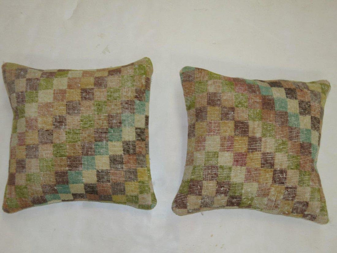 A Pair of Turkish Deco Rug Pillows 1.6x1.5 - 2