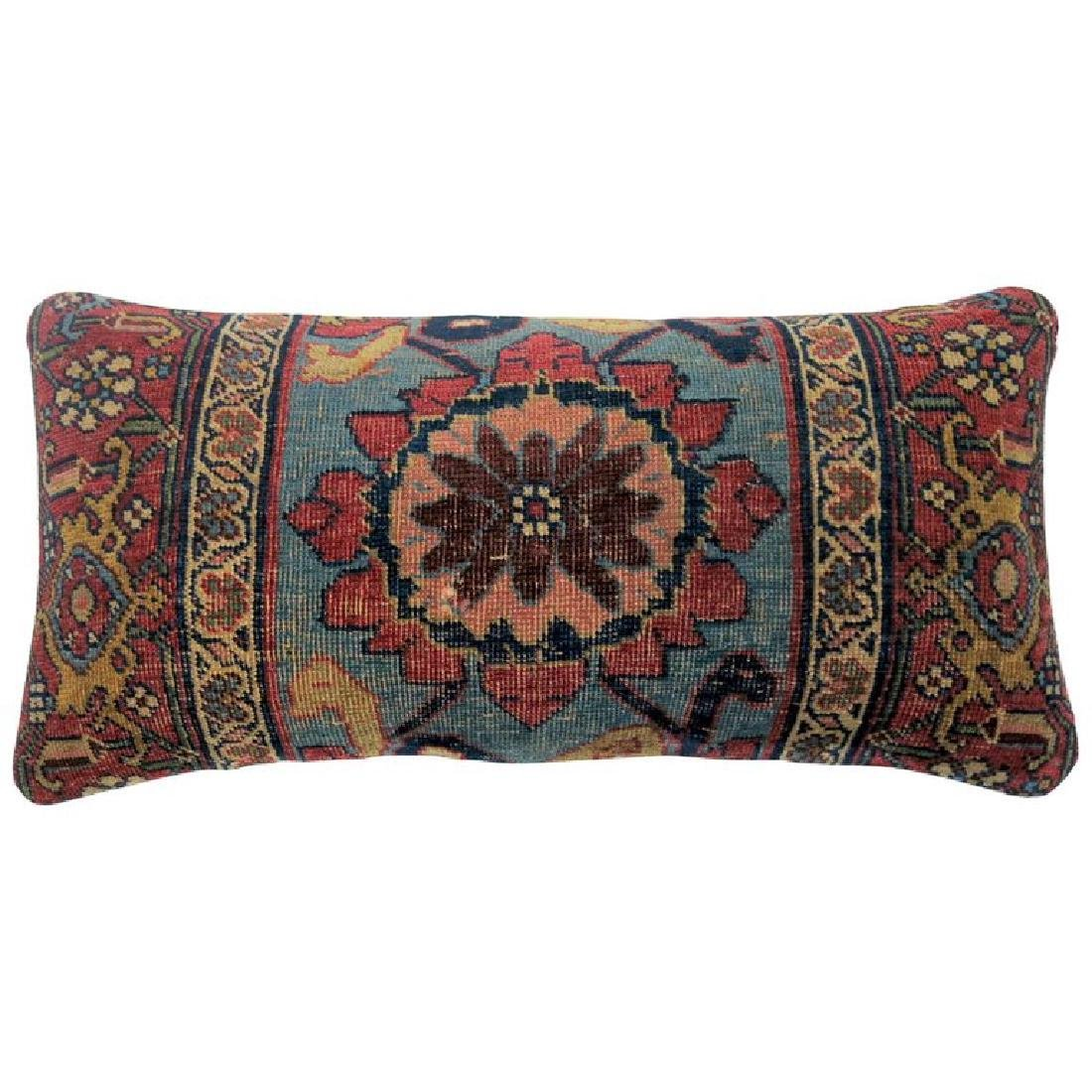 Bidjar Persian Antique Rug Pillow 1.3x2.5