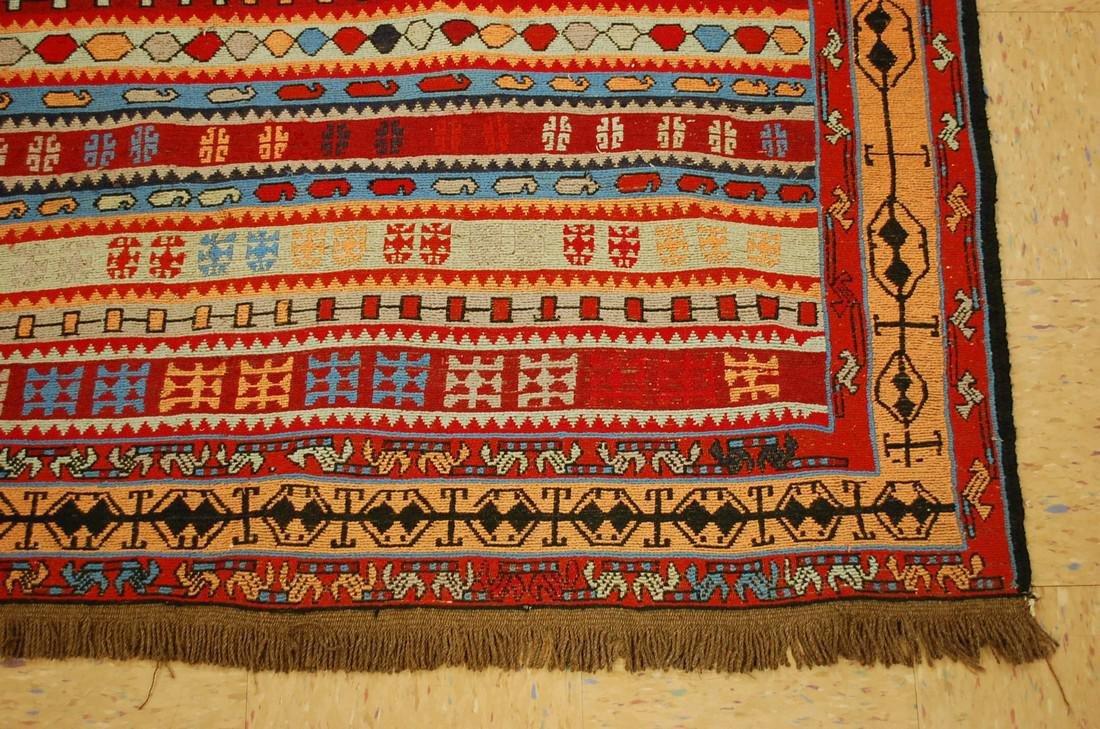 Fine Highly Detailed Caucasian Soumak Kilim Rug 5.2x6 - 2
