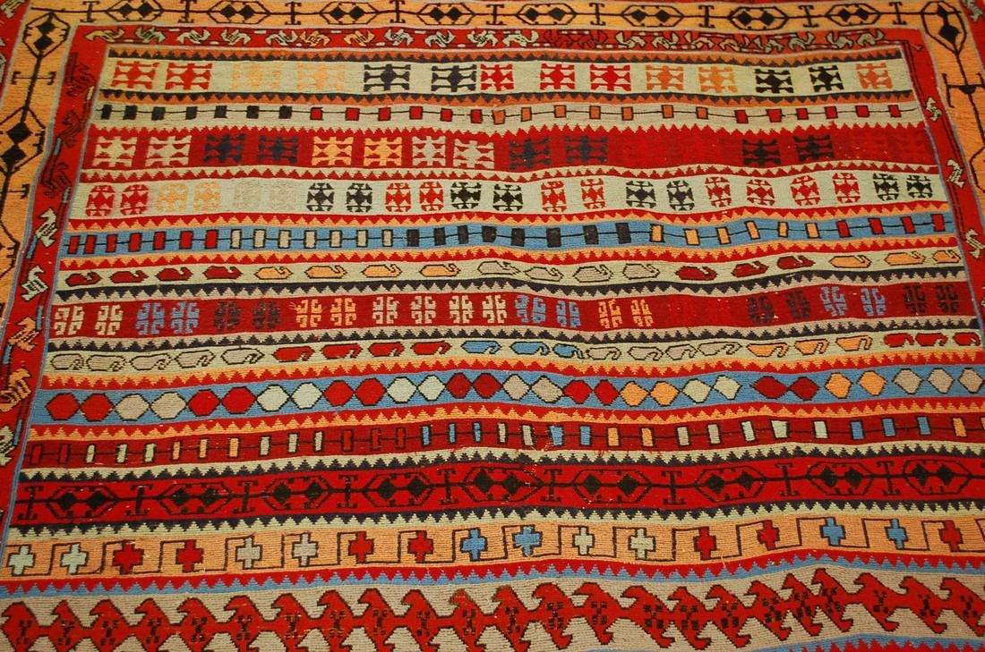 Fine Highly Detailed Caucasian Soumak Kilim Rug 5.2x6 - 6