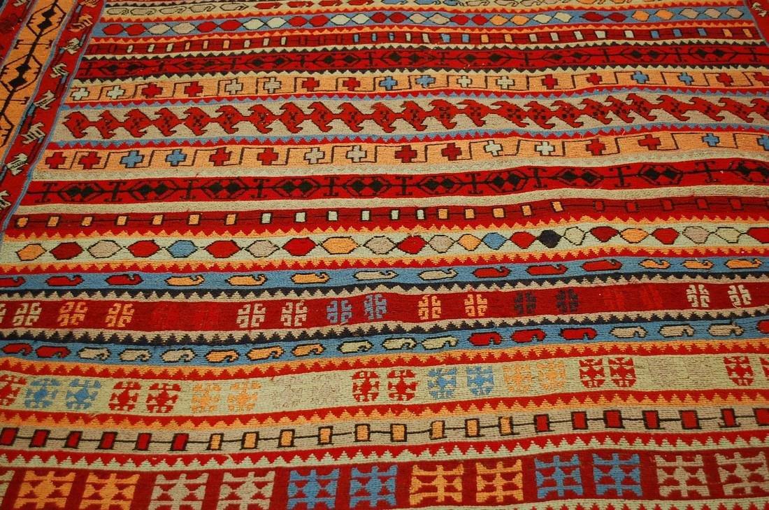 Fine Highly Detailed Caucasian Soumak Kilim Rug 5.2x6 - 7