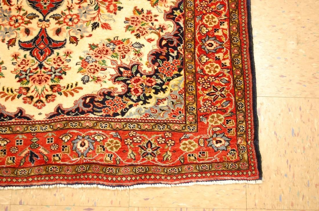 Highly Detailed Kork Wool Persian Bijar Rug 3.9x5 - 3