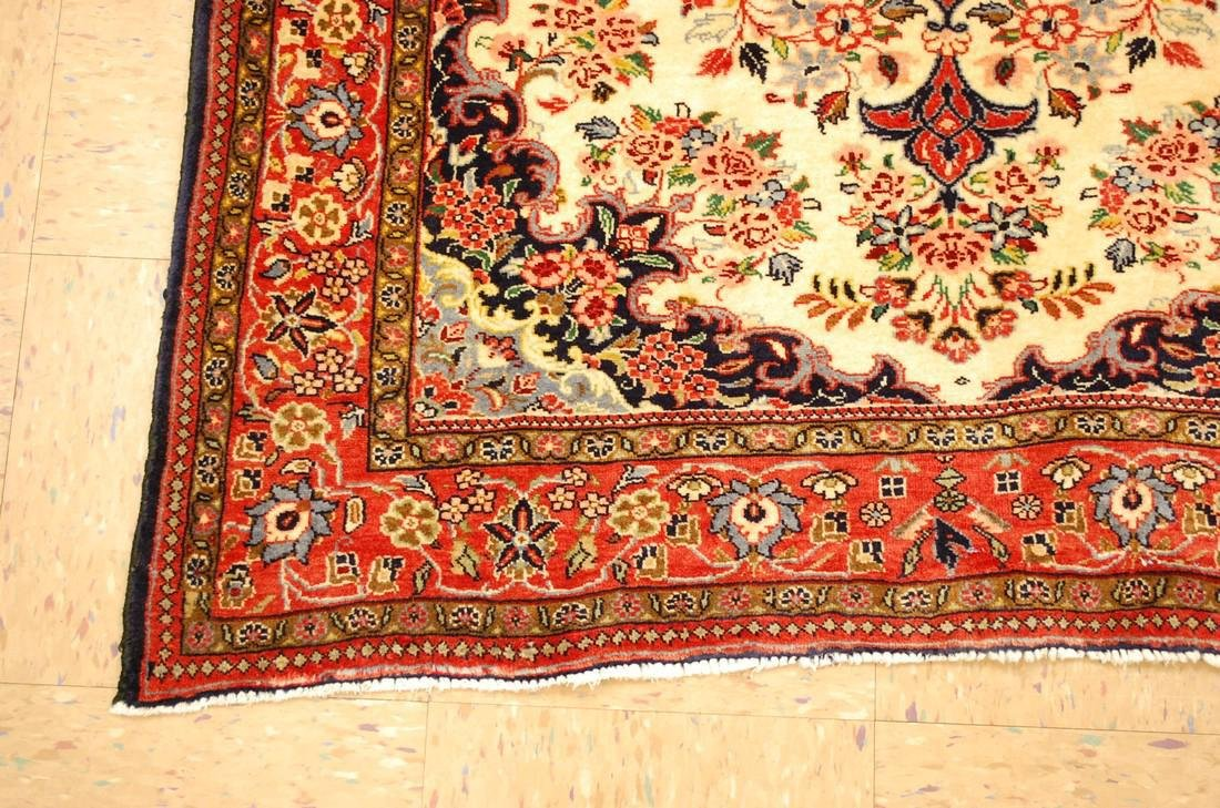 Highly Detailed Kork Wool Persian Bijar Rug 3.9x5 - 4