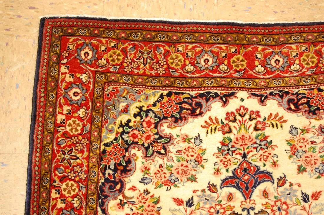Highly Detailed Kork Wool Persian Bijar Rug 3.9x5 - 5