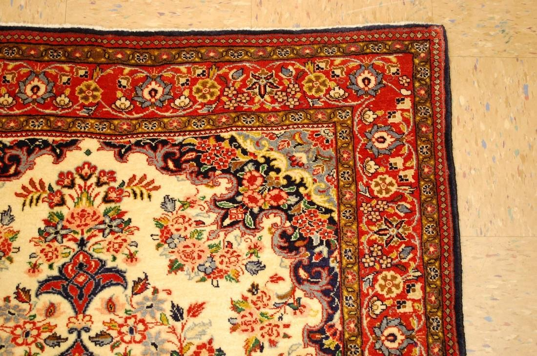 Highly Detailed Kork Wool Persian Bijar Rug 3.9x5 - 6