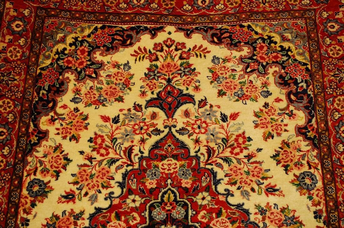 Highly Detailed Kork Wool Persian Bijar Rug 3.9x5 - 7