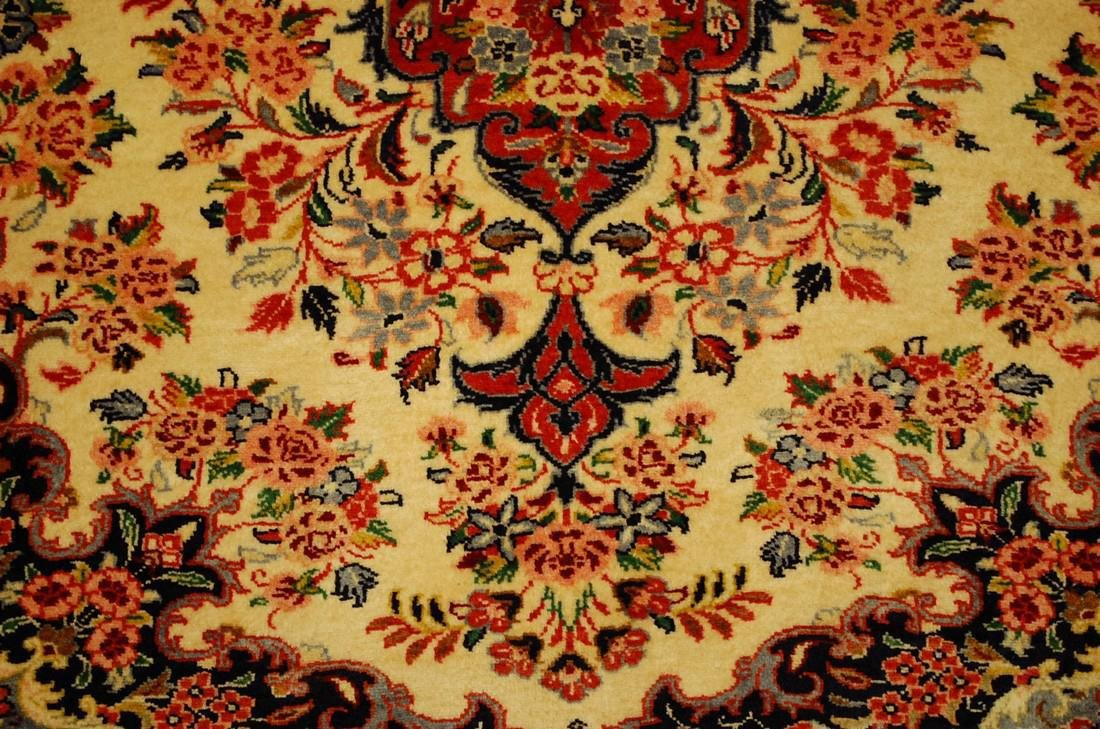 Highly Detailed Kork Wool Persian Bijar Rug 3.9x5 - 8