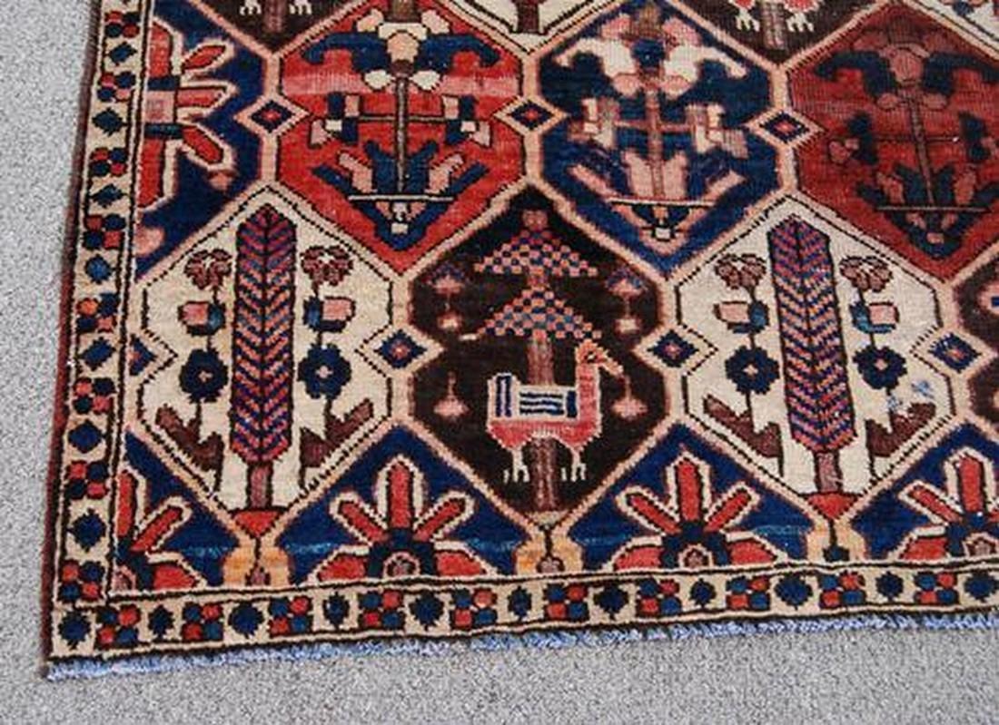 Semi Antique Persian Bakhtiari Desert Rug 4.6x8.10 - 3