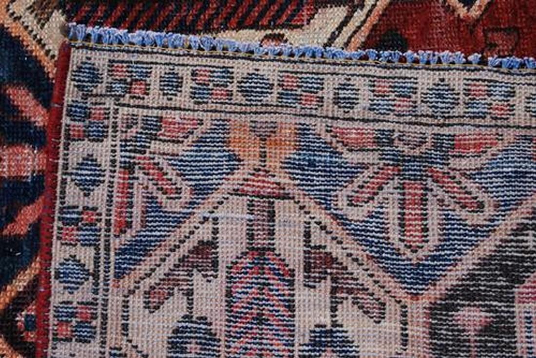 Semi Antique Persian Bakhtiari Desert Rug 4.6x8.10 - 4