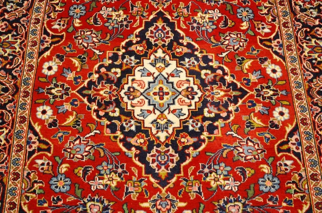Quality Kork Wool Persian Kashan Rug 3.8x5.10 - 2