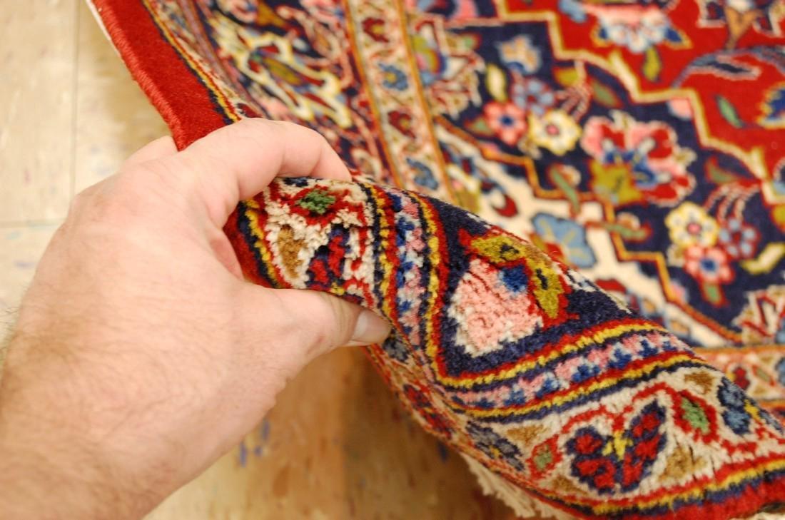 Quality Kork Wool Persian Kashan Rug 3.8x5.10 - 9