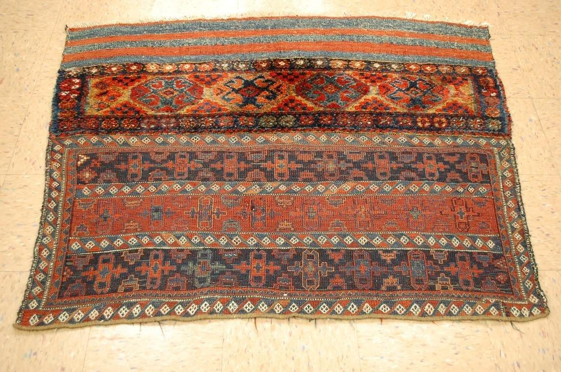 Antique Kurdish Horse Cover Verneh Rug 3.9x4.4